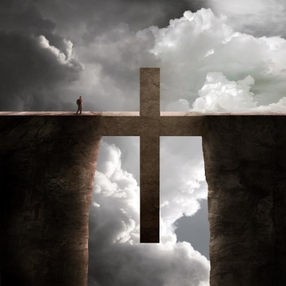 Jesus bridges the gap between us and heaven.