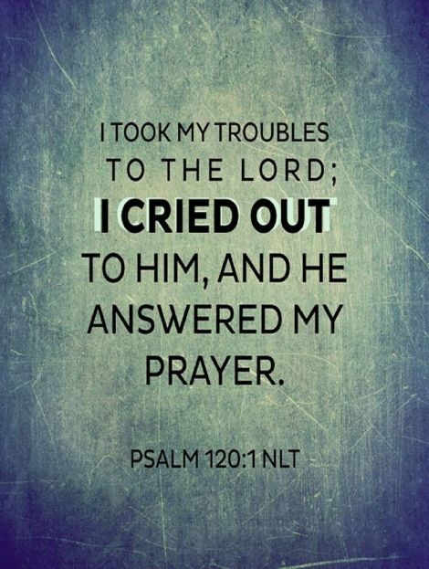 I cried out to the Lord, and He answered me.