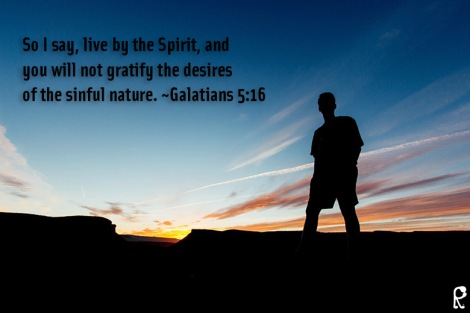 So I say, live by the Spirit, and you will not gratify the desires of the sinful nature. ~Galatians 5:16
