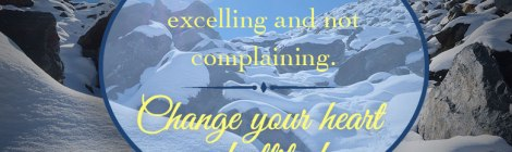 Work for Me, excelling and not complaining. Change your heart and attitude. 1 Corinthians 15:58