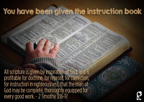 You have been given the instruction book