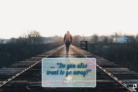 "... ""Do you also want to go away?"" - John 6:67"